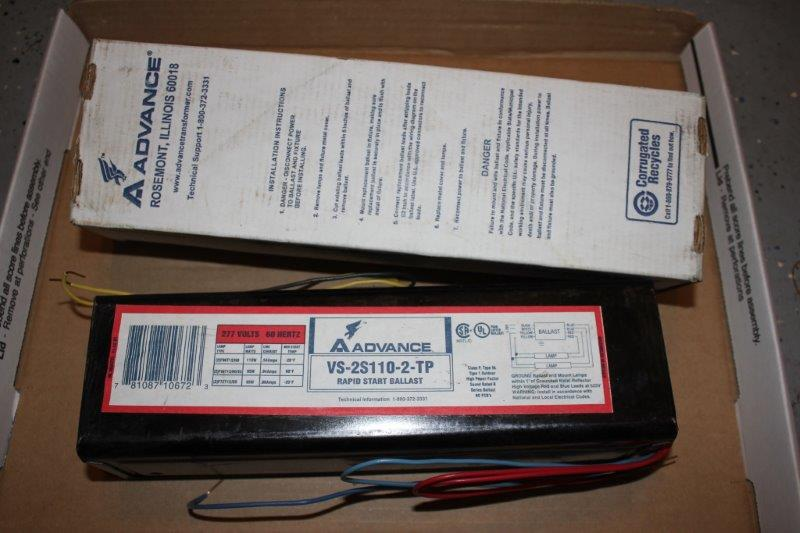 New ADVANCE FLUORESCENT LAMP BALLAST VS-2S110-2-TP